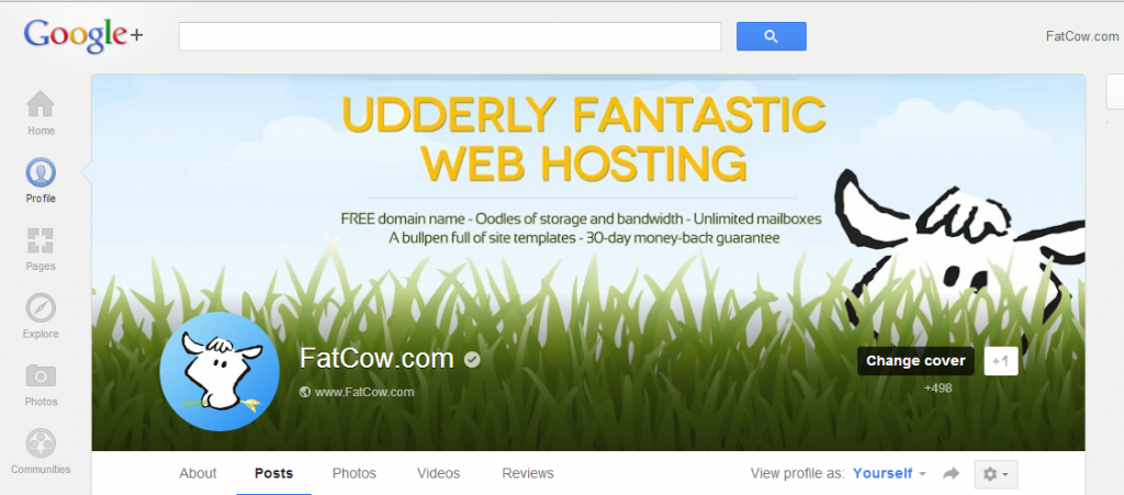 Initial GooglePlus Cover display