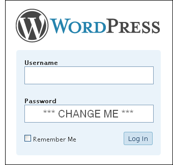 wordpress password